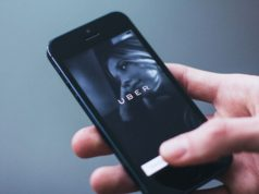 Uber na telefóne